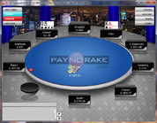 PayNoRake Poker Tournament Table