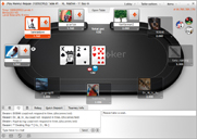 party poker sit and go table