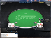 Black Chip Poker Sit and Go Table