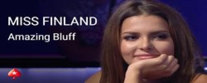 Miss Finland Sara Chafak Enjoys Bluffing