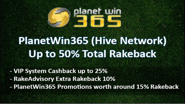 Up to 50% Total Rakeback Guaranteed on The Hive Network
