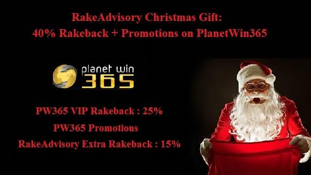 40% Lifetime Rakeback for New Sign Ups in December on PW365