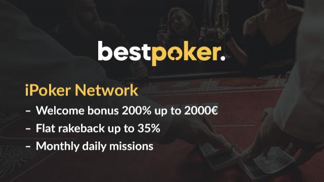 200% up to 2,000 EUR Welcome Bonus and 35% flat rakeback at iPoker