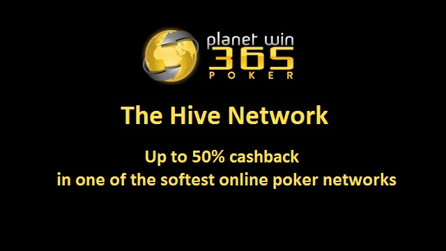 40% Guaranteed Total Rakeback playing on The Hive Network