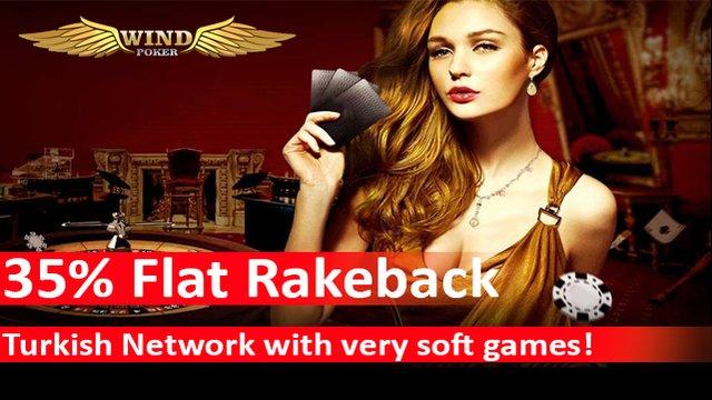 35% Flat Rakeback on Klas Poker Network