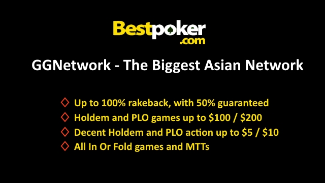 Highest Cashback at GGNetwork with Up to 100% rakeback and 50% guaranteed