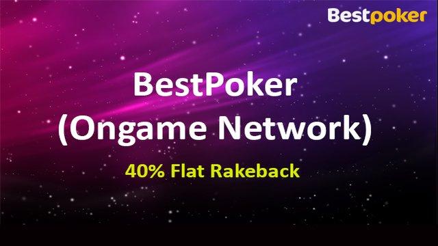 40% Flat Rakeback on Ongame Network