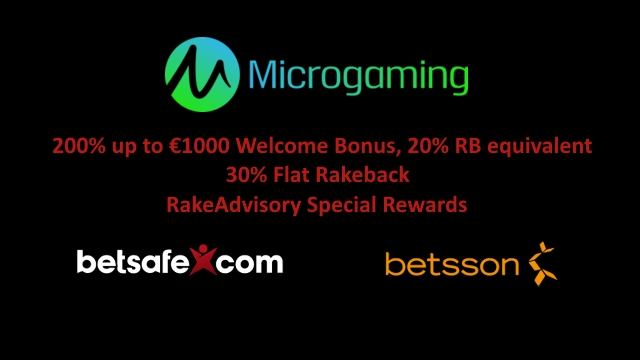 200% up to 1000 EUR welcome bonus, 30% flat rakeback and RakeAdvisory special rewards