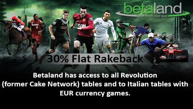 30% Flat Rakeback on League Poker Network
