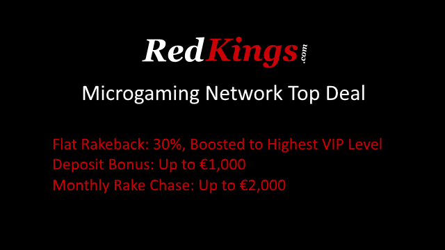 30% flat rakeback at Microgaming Poker Network