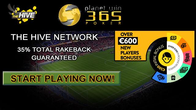 35% Total Rakeback Guaranteed on The Hive Network